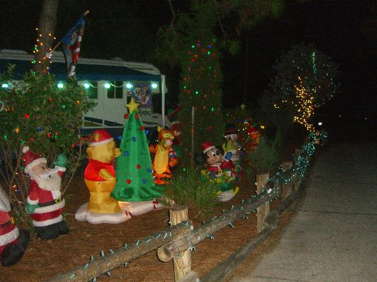 The Campsites at Disney's Fort Wilderness Resort: One of the campsites decorated for Christmas