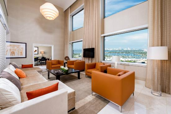intercontinental miami royal palm presidential suite living room - Living Room Miami