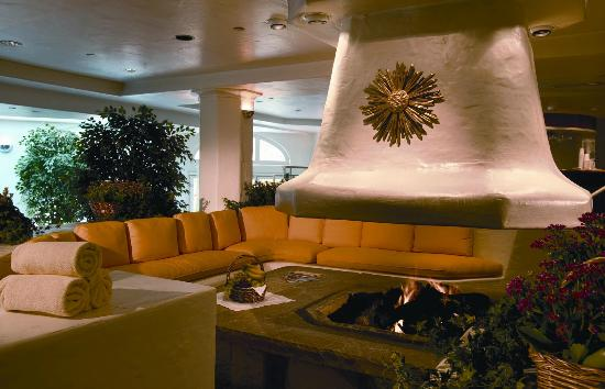 Sonnenalp Spa: Our Relaxation Cove with Grand Fireplace