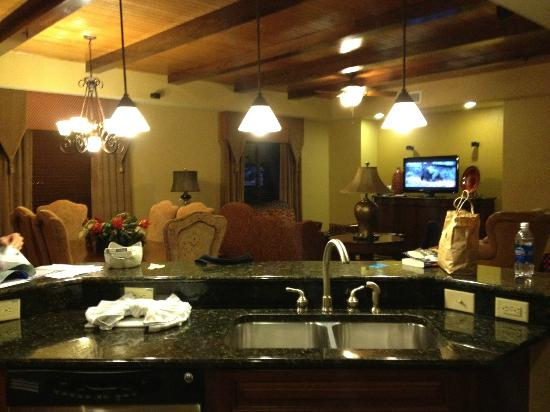 Wyndham Bonnet Creek Resort Kitchen Dining Living Room Presidential