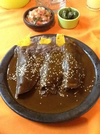 Plaza Garibaldi: Enchiladas de mole, deliciosas!