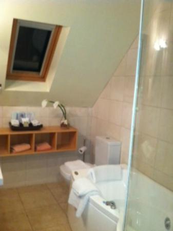 Lygon Arms Hotel: Whirlpool bath & shower
