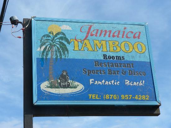 Jamaica Tamboo: enseigne de l'hotel