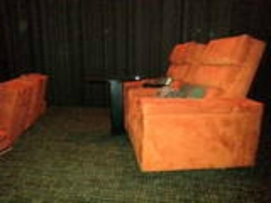 iPic Theater: The recliner seats - look at the leg room!!