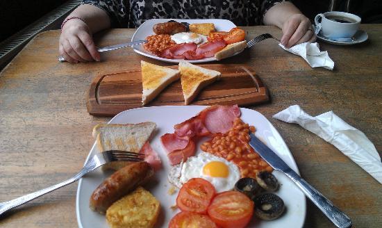 Full English Breakfast at the Water Rats pub