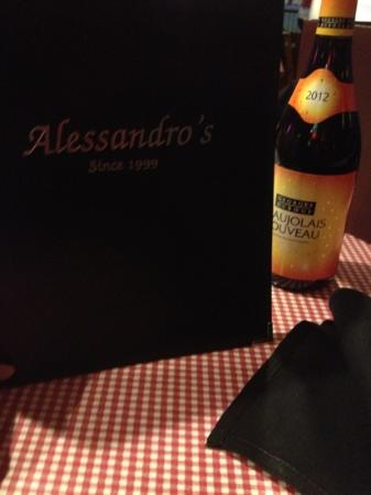 Alessandro's: warm, inviting and cozy