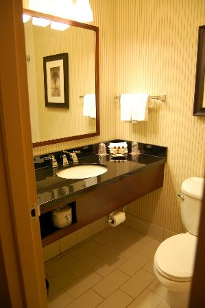 Sheraton Harrisburg-Hershey: The bathroom was on the smaller side