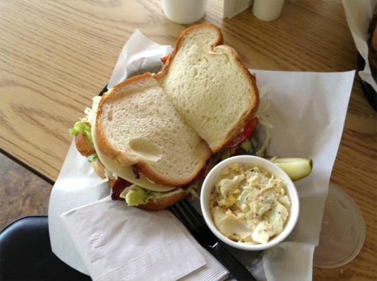 The Lunch Box : BLT on white with Potato Salad