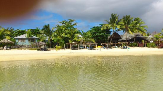 Savaii Lagoon Resort: Our fale is the blue one