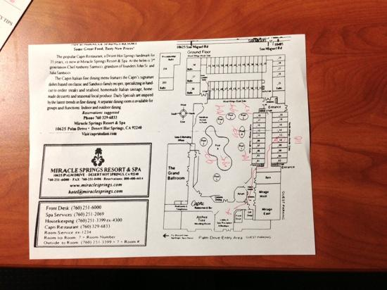 Miracle Springs Resort and Spa: Mineral Springs resort map