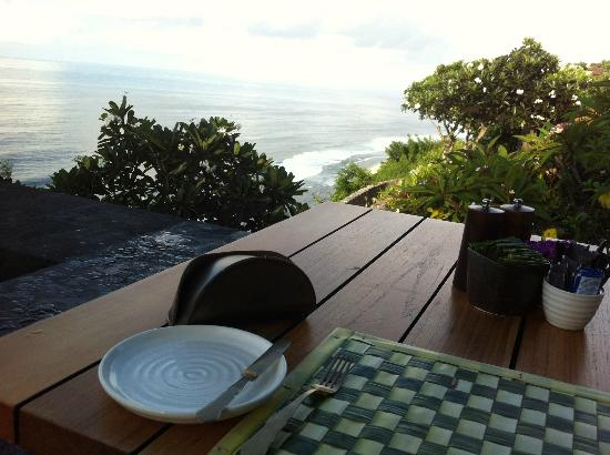 Bulgari Resort Bali: our view while having a breakfast