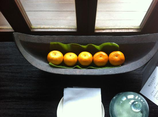 Bulgari Resort Bali: Selection of fruit and sweets