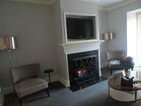 Waldorf Astoria Chicago: Cozy gas fireplace! (November trip)