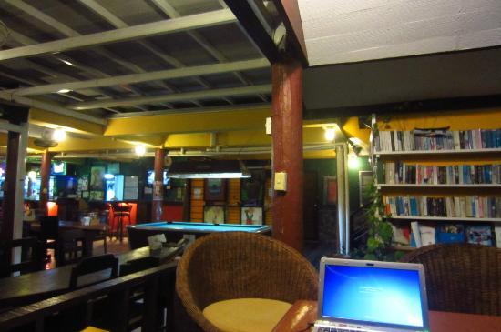 Jaya Hostel: the reading section
