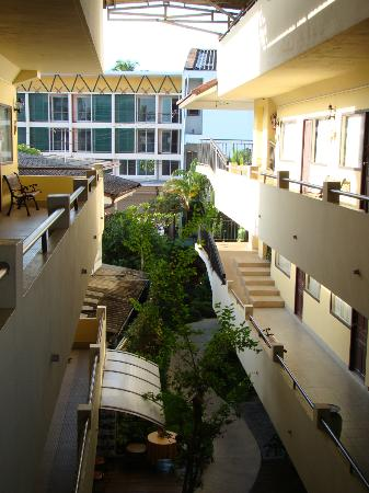 Eurana Boutique Hotel: Anlage im zweiten Stock auf die Gänge zu den Zimmern