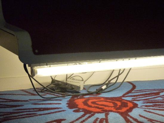 Radisson Blu Hotel, Birmingham: 'Hidden' floor lighting and wiring exposed