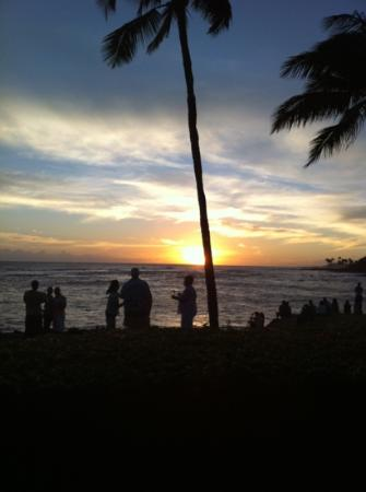 Sheraton Kauai Resort: sunset at the Sheraton