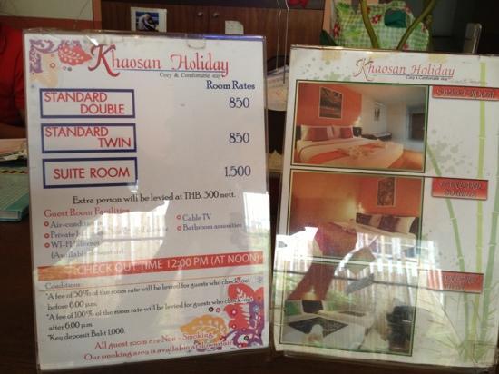Khaosan Holiday Guest house: цены