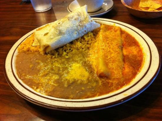 Casa Munoz Restaurant: Chile Colorado Burrito and Cheese Enchilada Combo