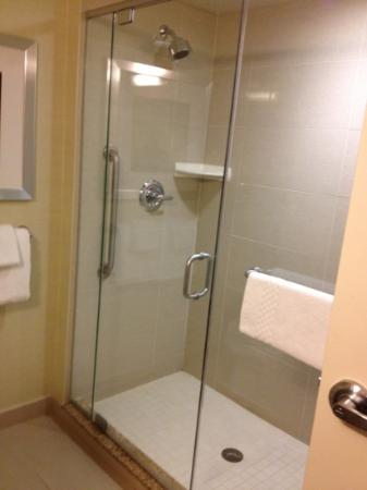 Courtyard by Marriott Calgary Airport: shower big enough for two