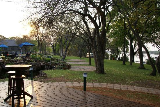 A'Zambezi River Lodge: View from bar of riverbank