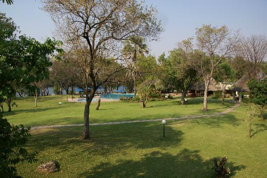 A'Zambezi River Lodge: View from upstairs room in front block
