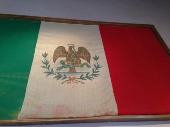 Museo del siglo XIX : 19th century Mexican flag