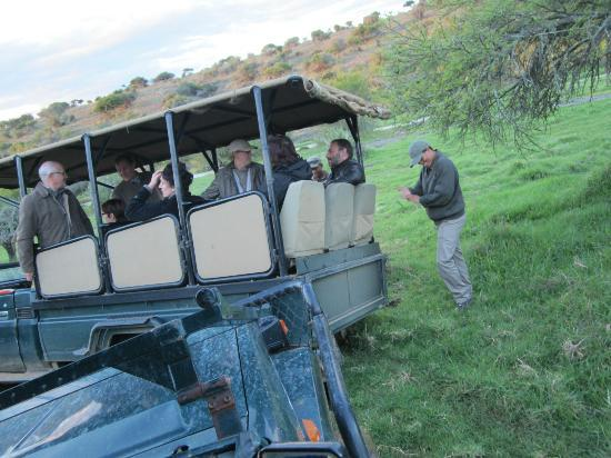 Kuzuko Lodge: Game drive vehicles temporarily bogged