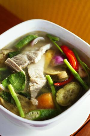 Sinigang na Baboy (Pork Belly in Tamarind Broth)