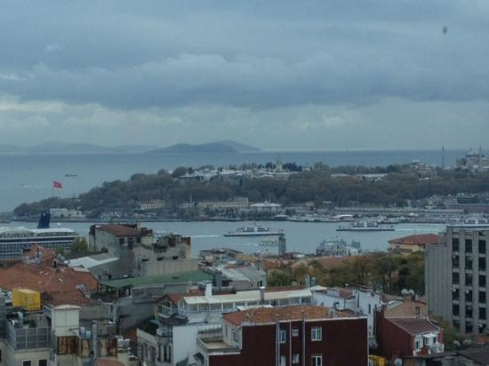 The Marmara Pera Hotel: View of Sultanamet from room