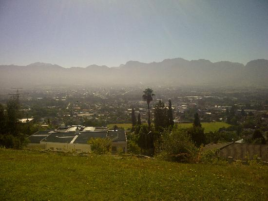 Paarl Boutique Hotel: view from next to the Pool