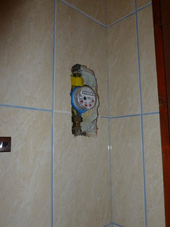 Old Monarchia Hotel: unfinished work in toilet