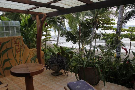 Cabinas Jimenez: *Blick von der Terasse auf den Golfo