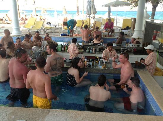 Hotel Riu Palace Las Americas: en el bar (piscina)