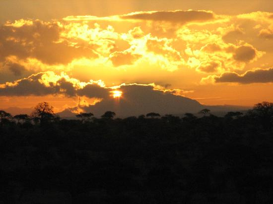 Tarangire Safari Lodge: Sunrise from the terrace