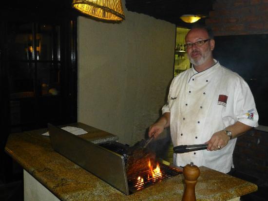 Immanuel Wilderness Lodge: Stephan und das Roastbeef
