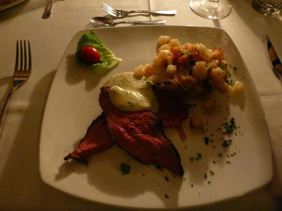 Immanuel Wilderness Lodge: Abendessen, Hauptgang