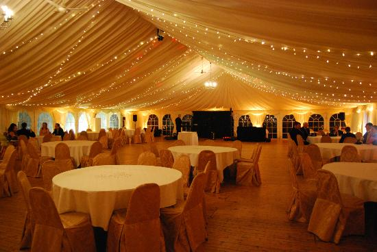 The Marquee All Set Up For The Wedding Reception Picture Of