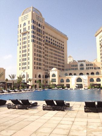 The St. Regis Doha : Pool and hotel view from beach