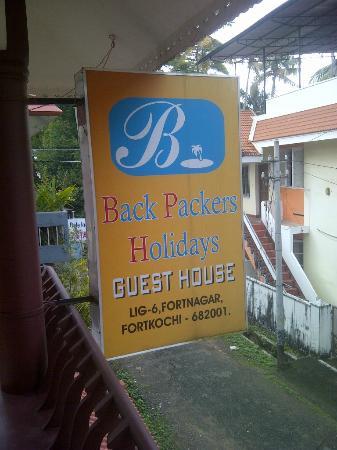 Backpacker Holidays Guest House Kochin