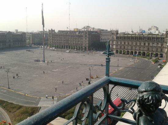 Zocalo Central: Vista desde el restaurante