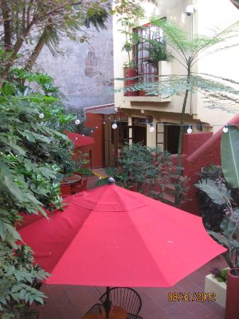 The Red Tree House: View of the entrance to the breakfast area