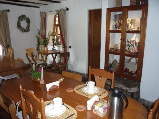 Posada Las Casitas del Arco Iris: Dining room