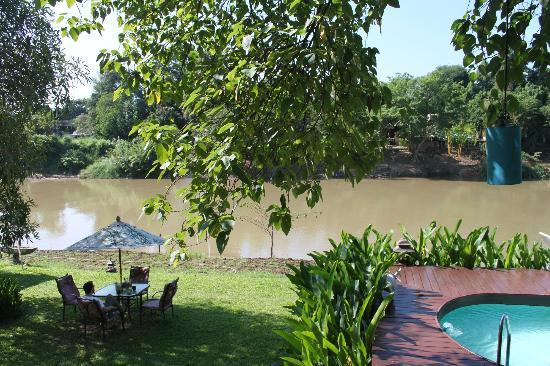 Villa San Pee-Seua: uitzicht vanaf balkon