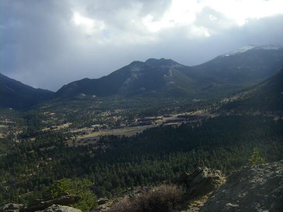 YMCA of the Rockies: View of Y Camp grounds from top of nearby ridge.