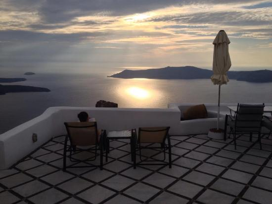 Vallais Villa: Sunset from the terrace