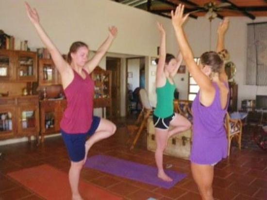 Rancho Cecilia Nicaragua: Yoga at the big house