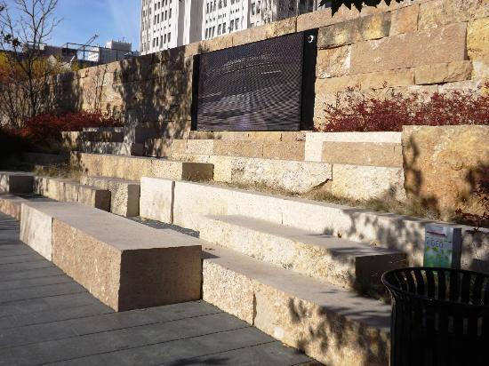 City Garden: Retaining wall