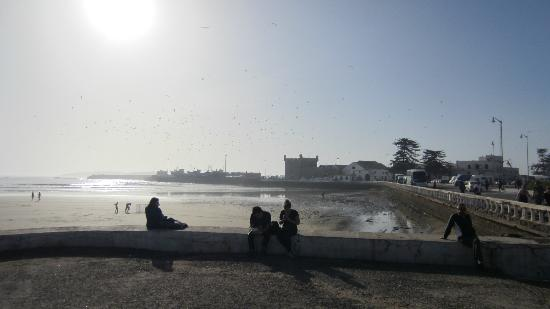 Essaouira Beach: towards the port