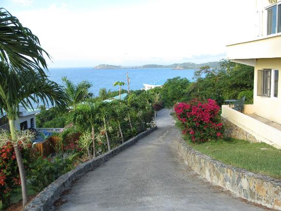 Villa Marbella Suites: View from the top of the driveway at Villa Mirabella!